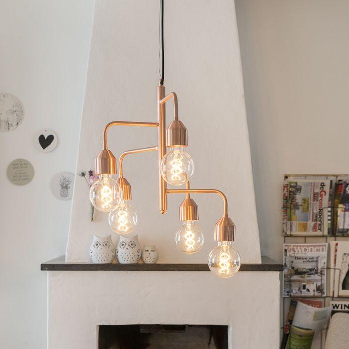 Moderne-hanglamp-koper-5-lichts---Darren