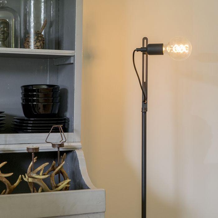 Moderne-strakke-vloerlamp-zwart---Slide