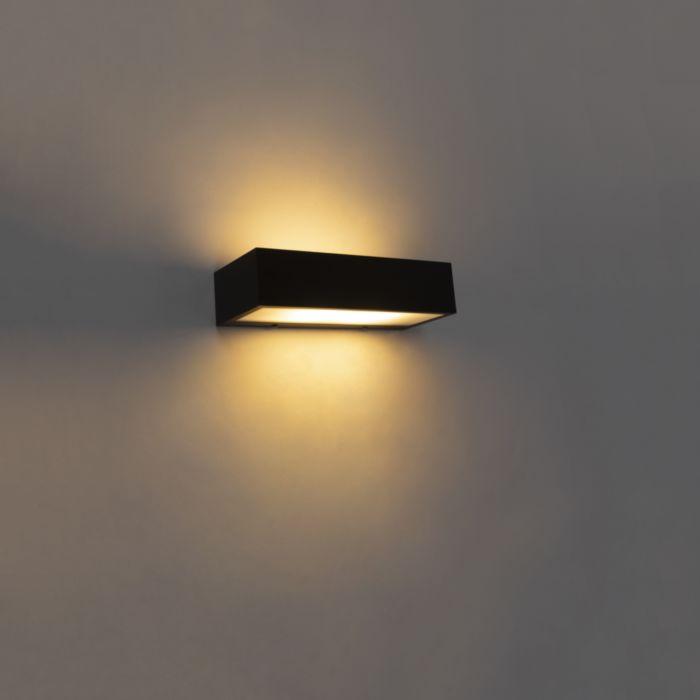 Design-langwerpige-wandlamp-zwart-25cm---Houx
