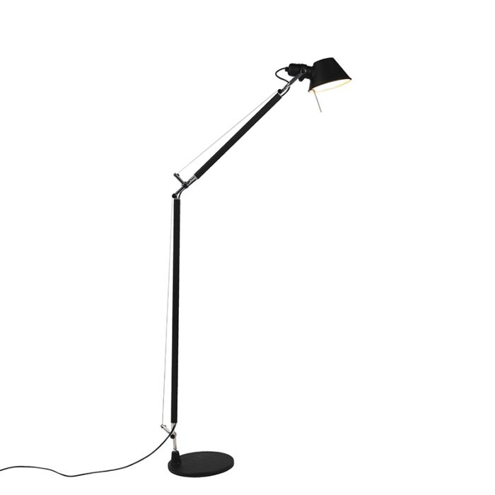 Artemide-vloerlamp-zwart-verstelbaar---Tolomeo-Lettura