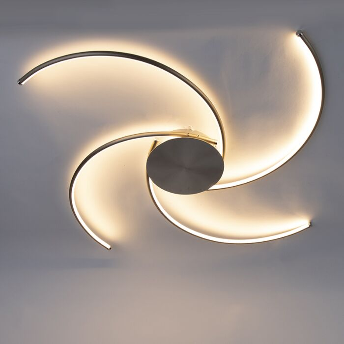Moderne-plafondlamp-staal-incl.-LED---Alice