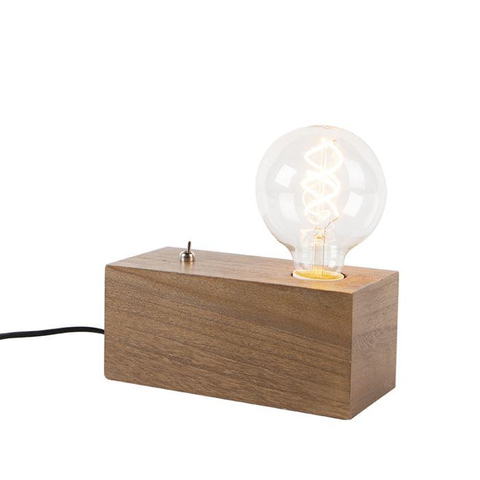 Industriele-tafellamp-hout---Quad