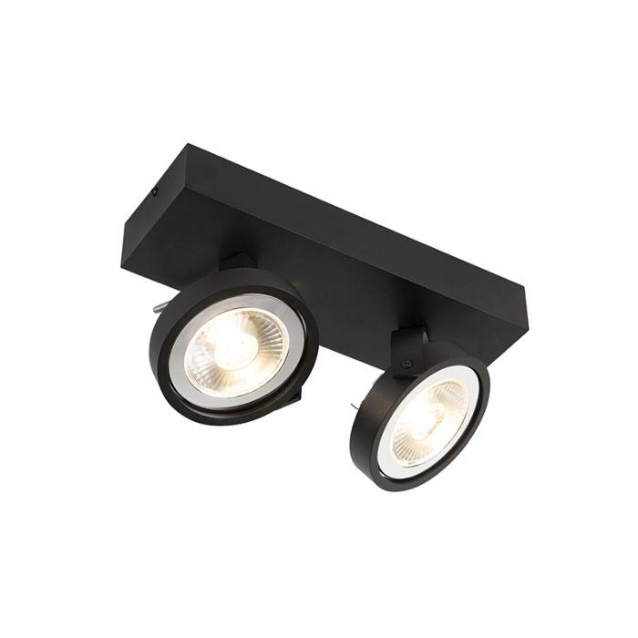 Design-spot-zwart-verstelbaar-2-lichts-incl.-2-x-G53--Go-Large