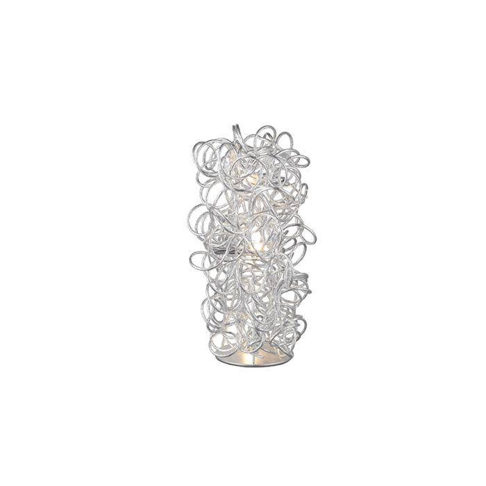 Moderne-tafellamp-chroom-met-krullen---Elza
