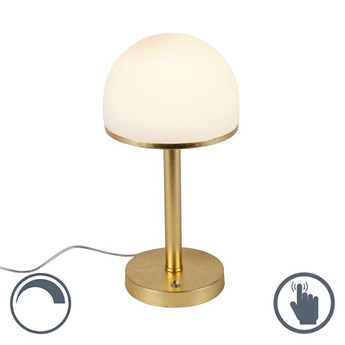 Vintage-tafellamp-goud-incl.-LED-en-touch---Bauhaus