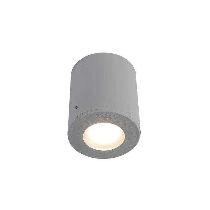 Moderne-opbouwspot-buiten-grijs-IP55-incl.-GU10---Franca