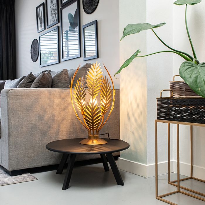 Vintage-tafellamp-large-goud---Botanica