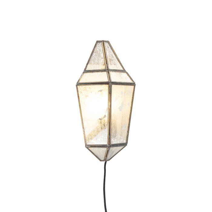 Art-Deco-wandlamp-half-messing-met-antiek-glas---Scone