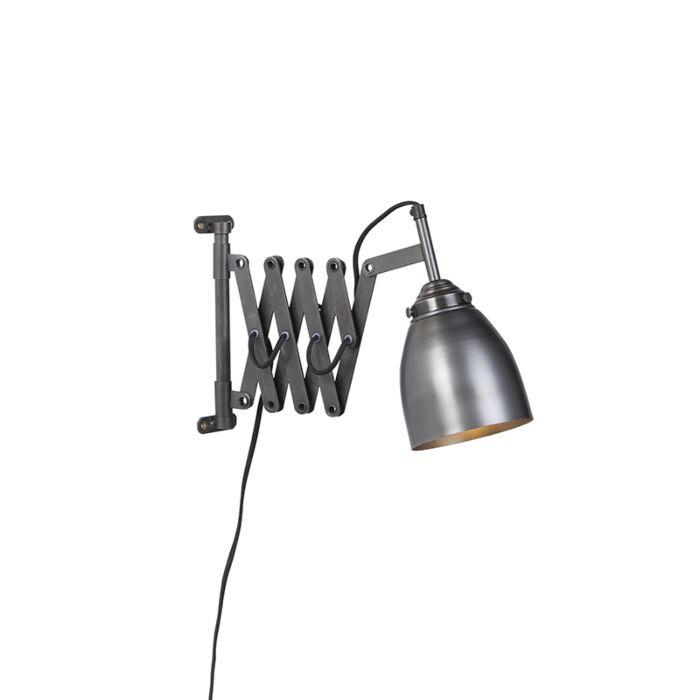 Vintage-uittrekbare-wandlamp-antiek-zink---Scissors