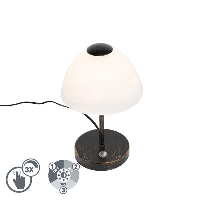 Design-tafellamp-zwart-dimbaar-incl.-LED---Joya