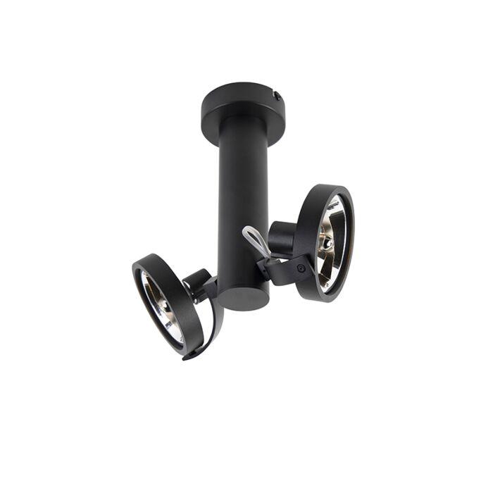Design-spot-verstelbaar-2-lichts-incl.-G9-zwart---Goes