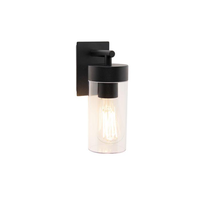 Moderne-buitenwandlamp-zwart---Rullo