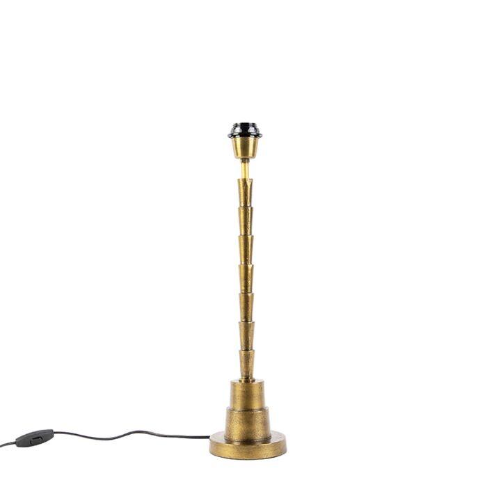 Art-Deco-tafellamp-brons-zonder-kap---Pisos