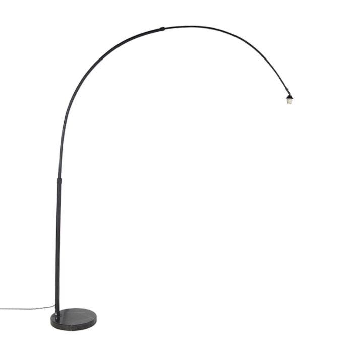 Moderne-booglamp-XXL-zwart-met-marmeren-voet