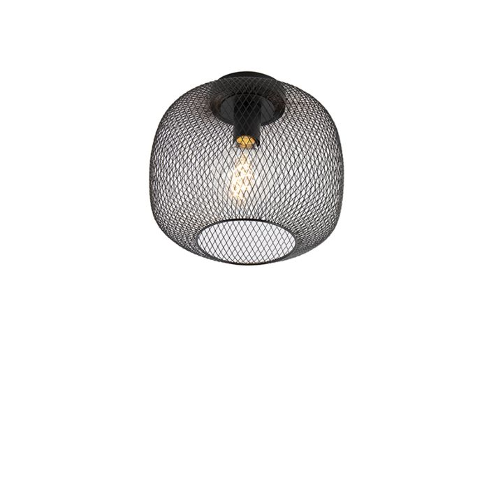 Moderne-zwarte-plafondlamp---Bliss-Mesh