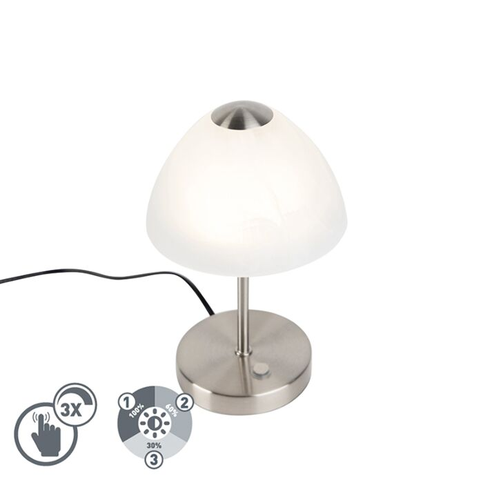 Design-tafellamp-staal-dimbaar-incl.-LED---Joya