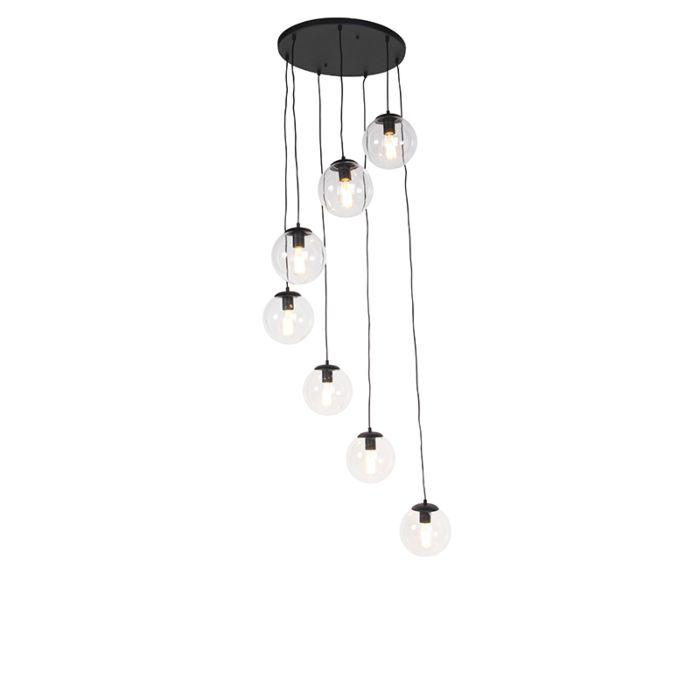 Art-deco-hanglamp-zwart-7-lichts---Pallon