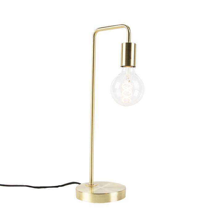 Moderne-messing-tafellamp---Facil