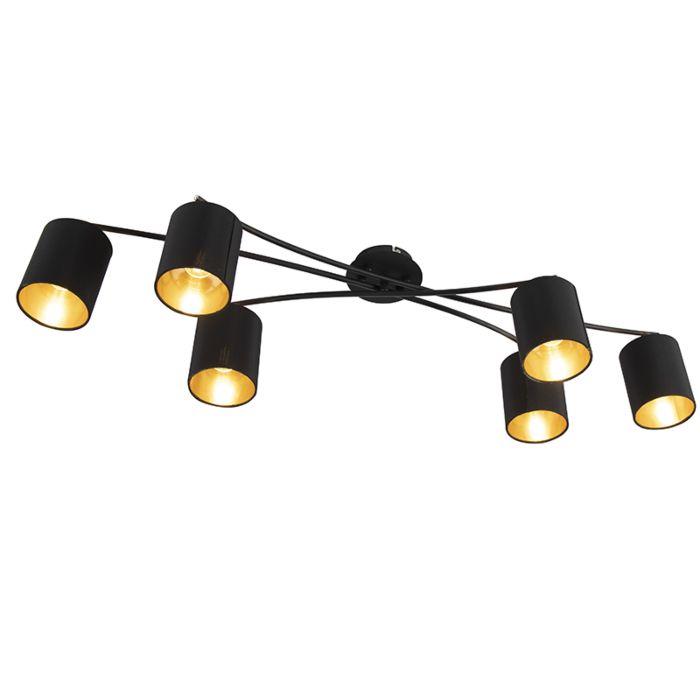 Moderne-plafondlamp-zwart---Lofty