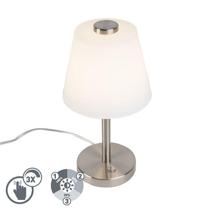 Design-tafellamp-staal-dimbaar-incl.-LED---Regno