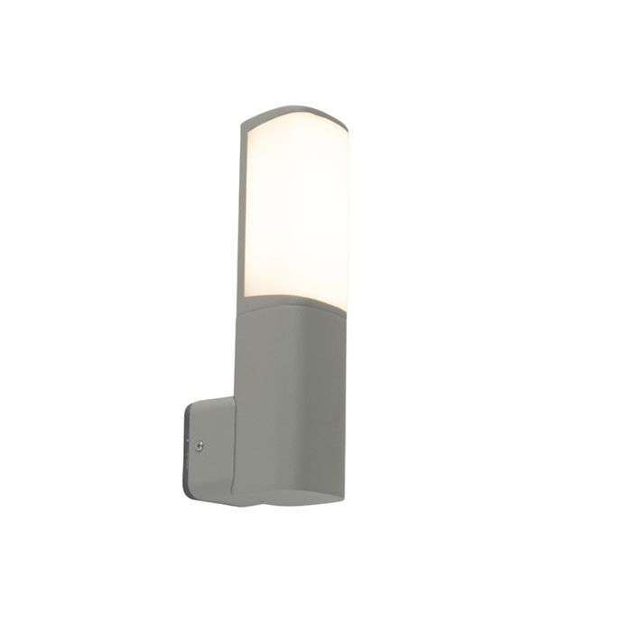 Moderne-buitenlamp-wand-grijs-incl.-LED---Rico