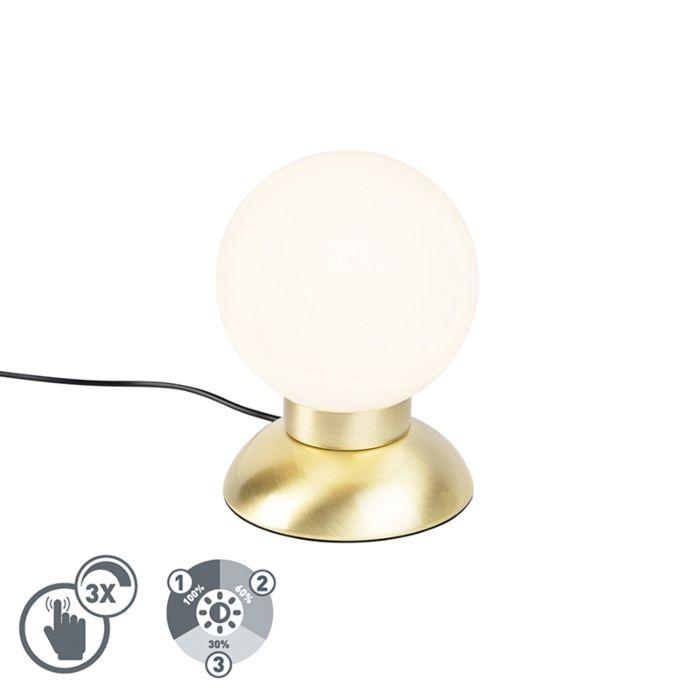 Design-tafellamp-goud-dimbaar-incl.-LED---Majestic