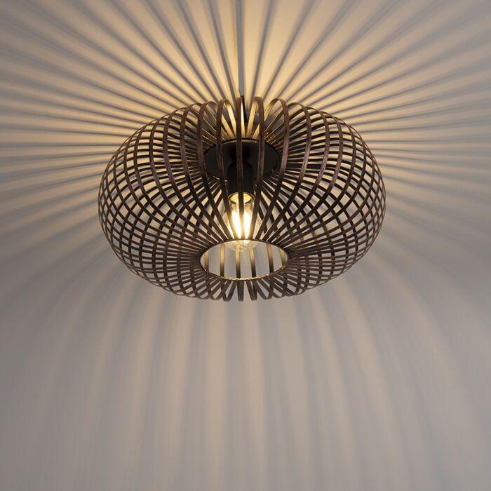 Industriele-ronde-plafondlamp-roestbruin---Johanna