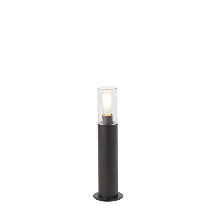 Moderne-staande-buitenlamp-zwart-50-cm---Rullo