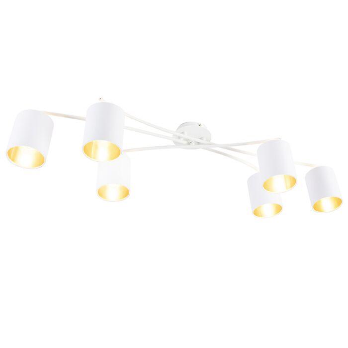 Moderne-plafondlamp-wit---Lofty