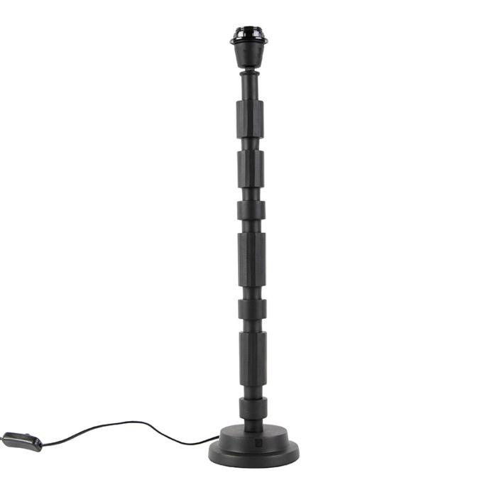 Art-Deco-tafellamp-zwart-zonder-kap---Torre