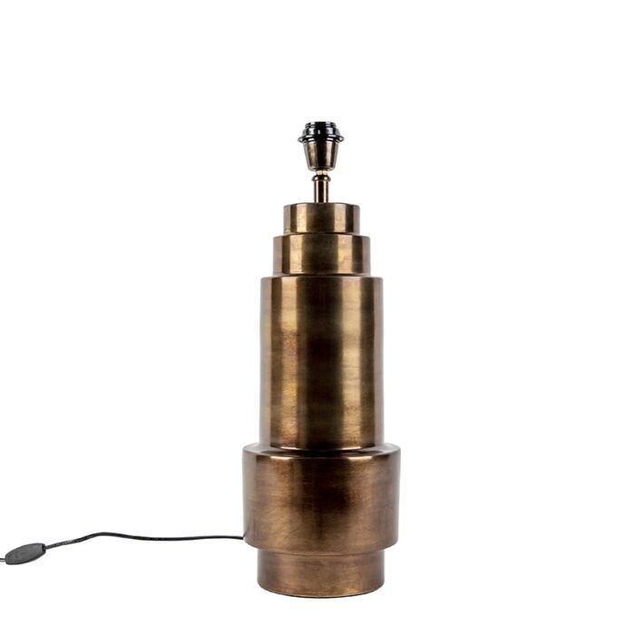 Art-Deco-tafellamp-brons-zonder-kap---Bruut