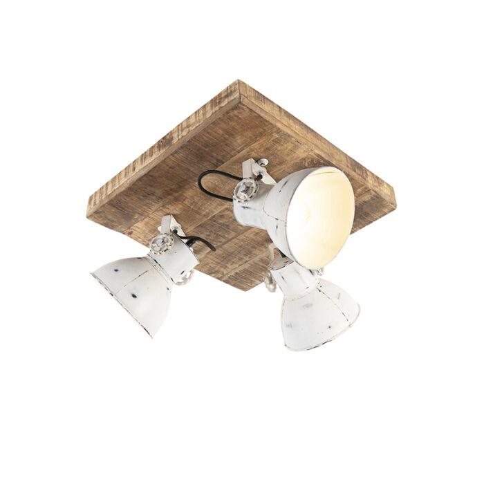 Industriële-spot-wit-met-mango-hout-3-lichts---Mangoes