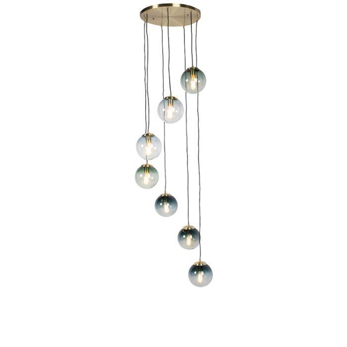 Art-deco-hanglamp-messing-7-lichts---Pallon