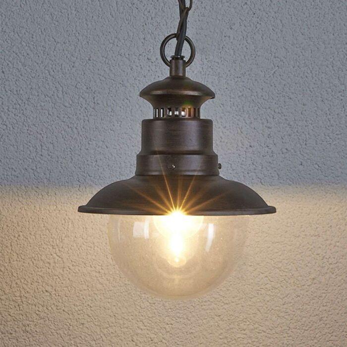 Industriële-ronde-hanglamp-roestbruin---Eddie