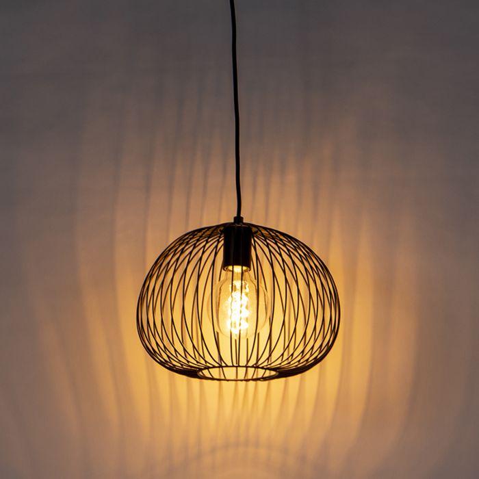Design-hanglamp-zwart---Wire-Dough