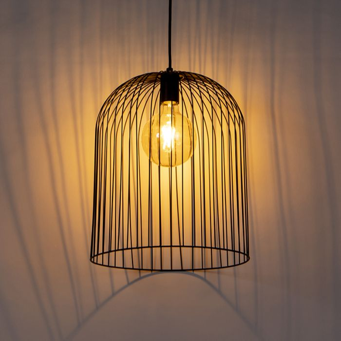Design-hanglamp-zwart---Wire-Knock