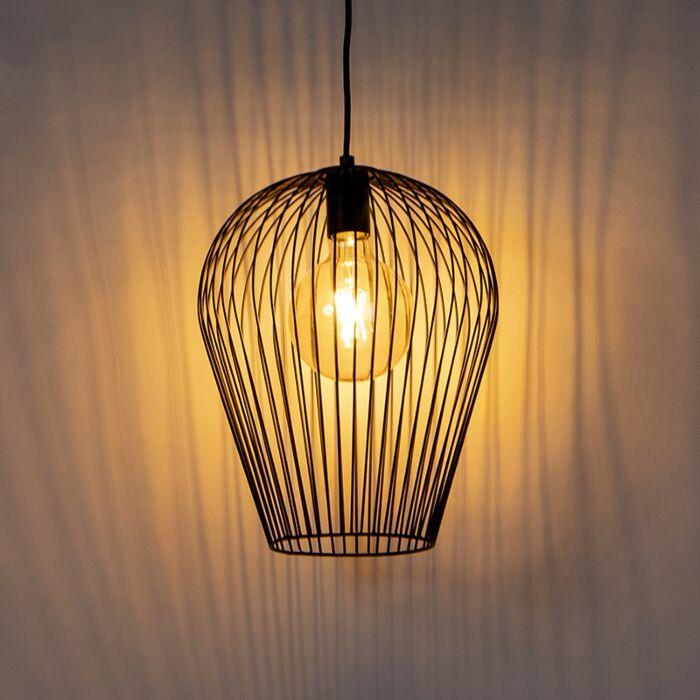Design-hanglamp-zwart---Wire-Ario