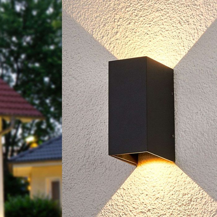 Moderne-buitenlamp-antraciet-incl.-LED---Kimian